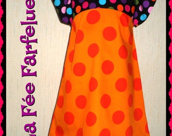 Dress cotton multicolored CARLA from 4 to 10 years