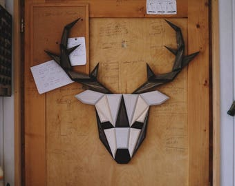 wooden reindeer wall decor