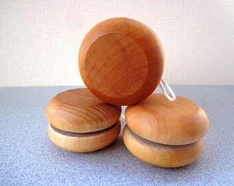 Wood YO-YO - Party Favor - Hand Polished - All Natural - Eco Friendly Kids Toy