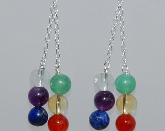 Hand Crafted Sterling Silver Chakra Earrings