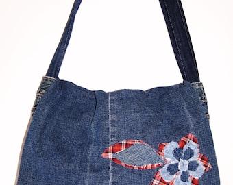 My Sweet Karma denim messenger bag purse