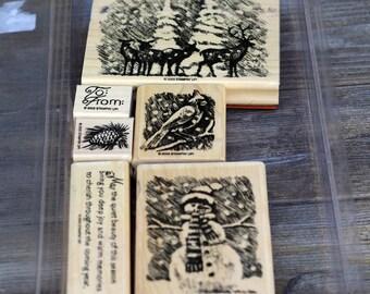 A Beautiful Season Christmas Wood Mounted Rubber Stamp, Stampin' Up, 2003