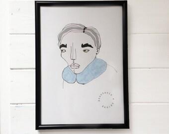 Blue Fur Illustration