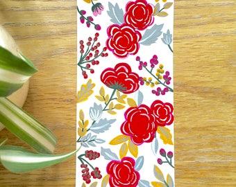Floral Hand Painted Bookmark 1, Original Bookmark