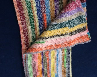 Multi-colored afghan
