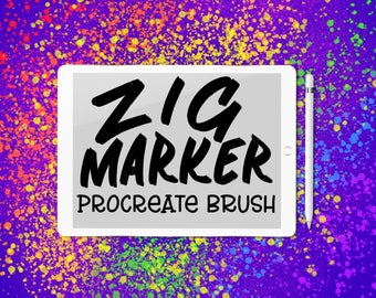 Zig Marker Procreate Lettering Brush