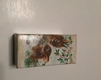 avon snow bunny decanter in original box