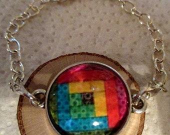 Colorful Quilt Bracelet - Interchangeable Bracelet - one item