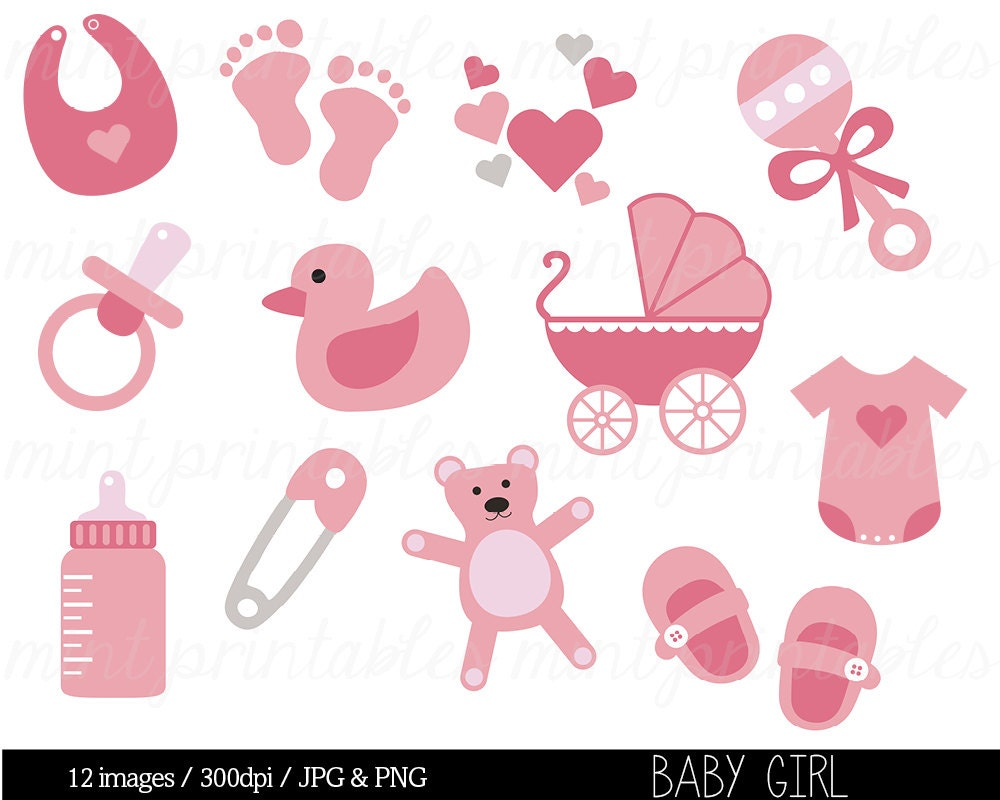 baby shower clipart baby clipart baby girl clip art rh etsy com Cute Baby Girl Clip Art baby shower clipart girl