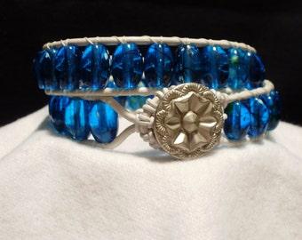 Blue Bayou Double Wrap Bracelet