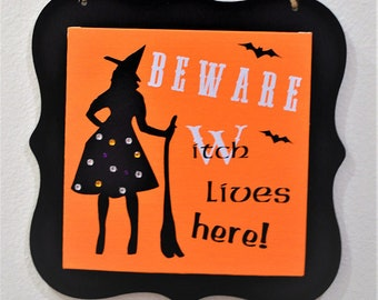 Halloween decor, Halloween sign, Halloween wood sign, Halloween witch sign , Halloween witch