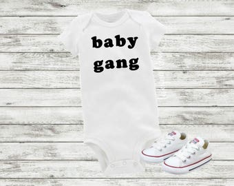 Baby Gang Bodysuit For Boy Or Girl, Trendy Tee