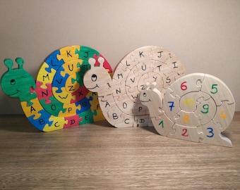 Puzzle Alphabet snail