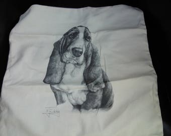 Basset Hound cushion cover