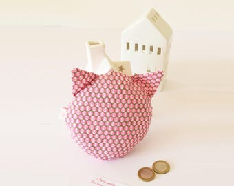 Tooth fairy, tooth pocket, cat pillow, baby teeth, tooth pillow, tooth fairy, cat, children gift, neon pink, polka dot, tooth container