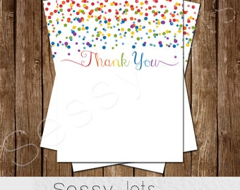 Rainbow Birthday Thank You Card