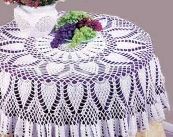 Pineapple Round Table Topper, Crochet Pattern. PDF Instant Download.