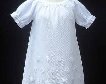 """White Baby girls Baptism dress, size 3-6 months Clothing for girls """"READY TO SHIP"""""""