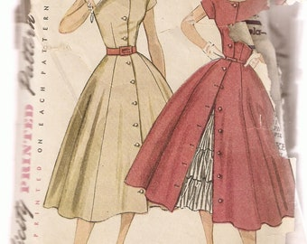 VINTAGE Simplicity Sewing Pattern 3815 - Women's Clothes - Misses Dress & Petticoat, Size 12
