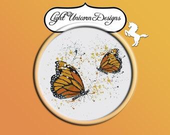 Butterflies 1 Cross Stitch Pattern Instant Download