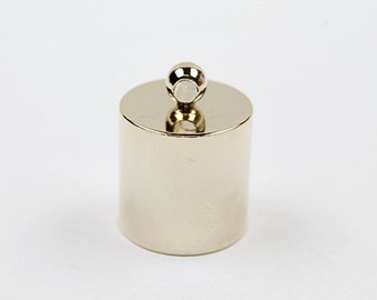 End cap, Nickel free, J10-G1, 5 pcs, 16x21mm, Inner 15mm, 16K gold plated brass, Crimp, Clasp, Jewelry making, Not easily tarnish, CG27-01