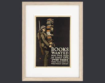 Book Wanted Vintage Poster Print