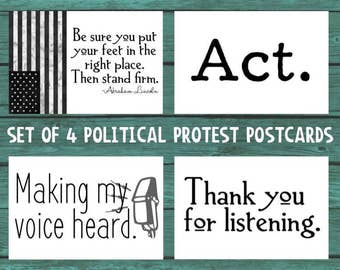 Activist Postcard - Protest Postcard - Anti Trump Postcard - Womens March - Feminism - Equality - Equal Rights - Printable Postcard