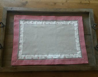 Placemat to embroider or customizing / cotton fabric