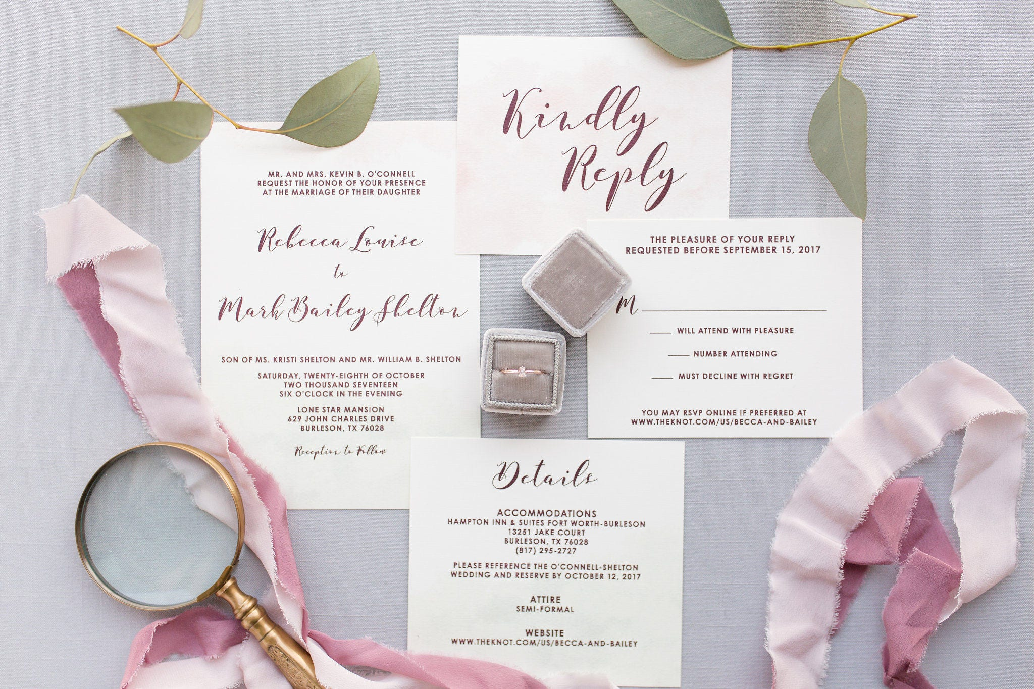 Mint Green, Pink Blush & Marsala Burgundy Water Color Wedding ...