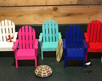 Colorful Mini Adirondack Chairs