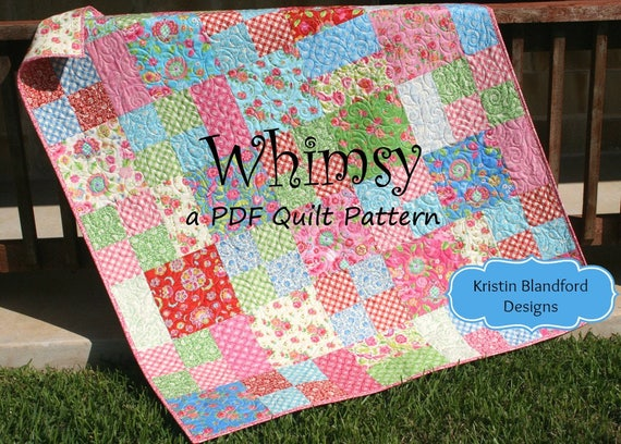 Layer Cake Quilt Pattern Whimsy Moda Baby Quilt And Throw