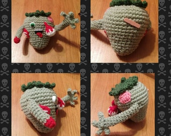Zombie Strawberry Crochet Plush
