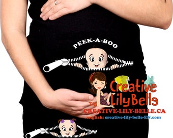 Funny maternity shirt t shirt PEEK A BOO include cm290