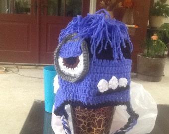 Evil minion crochet hat
