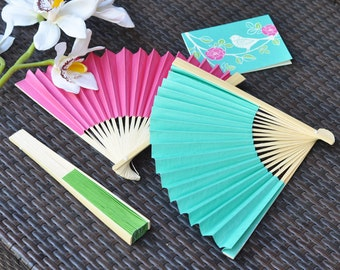 Paper Fan Hand Wedding Fans Beach Favors