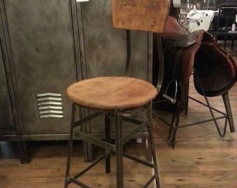 Vintage industrial factory stool