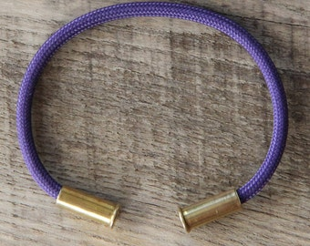 BRZN Recycled .22lr Bullet Casing Purple 550 Paracord Bracelet