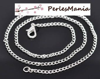 PAX 12 chain NECKLACES has 2 by 3mm silver bright S1410211 mesh