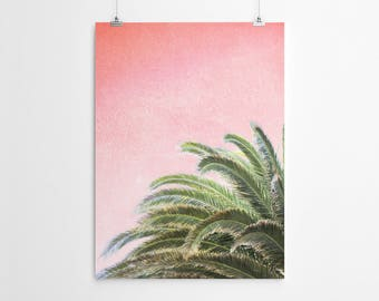 Palm Tree Art Print Tropical Decor Tropical Wall Art Palm Tree Poster Tropical Poster Dorm Decor Dorm Wall Art Palm Tree Art