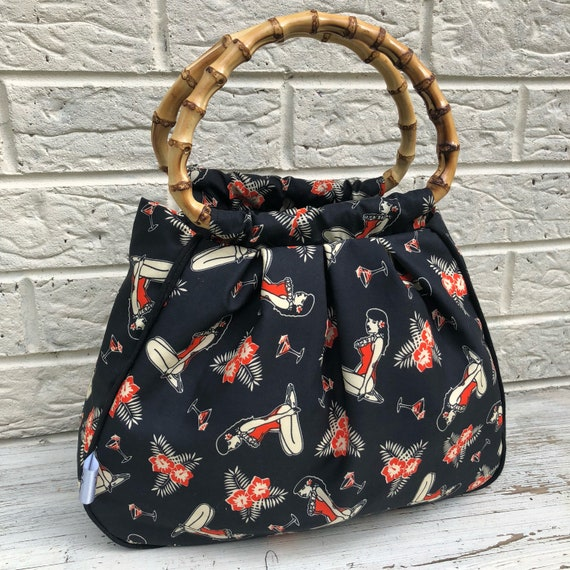 Limited Edition Tikki Hawaiian Handbag Rockabilly Pinup 1950's Inspired