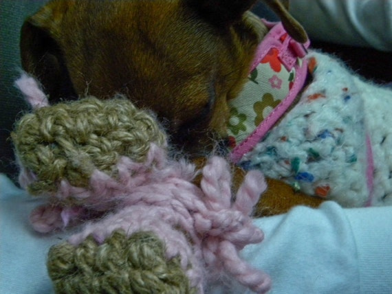 Snow dog booties crochet pattern pdf small dog breeds dt1010fo