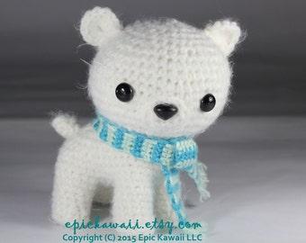 PATTERN: Peppermint the Polar Bear Cub - Teacup Pet Collection Crochet Amigurumi Doll