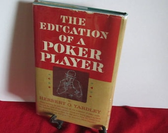"""Hard cover """"The Education of a Poker Player"""" by Herbert Yardley"""