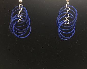 Cobalt Blue Spiral Earrings