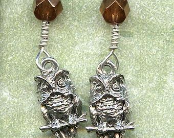 Hoot Owls Sterling Silver Earrings