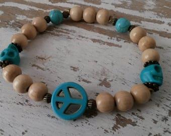 Bracelet large natural pearls
