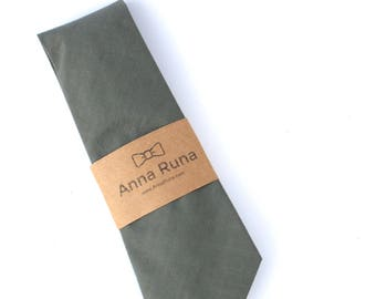 Dusty Green Linen Neck Tie