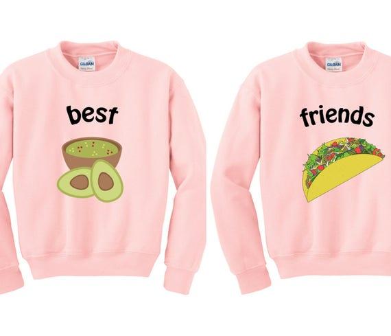 Double Trouble Sweatshirt, Couples Sweater, Bff Sweater, duo sweatshirts, bff shirt set, set of shirts bff, best friends sweater