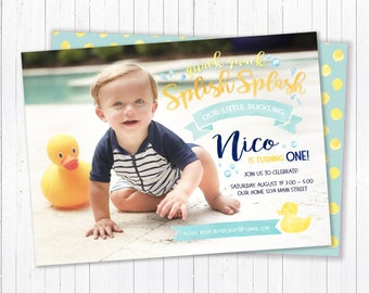 First Birthday Splish Splash Invitation