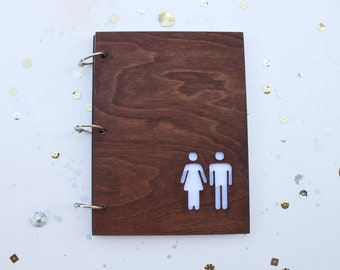She & He mini album/ journal/ wedding guest book